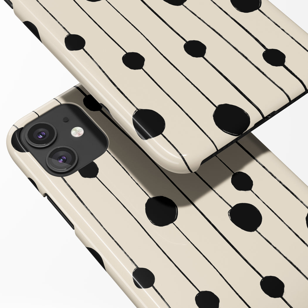 Black Dots Painting iPhone Case