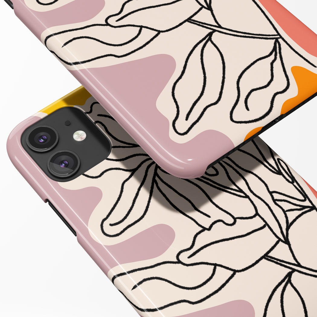 Floral Drawing iPhone Case 2