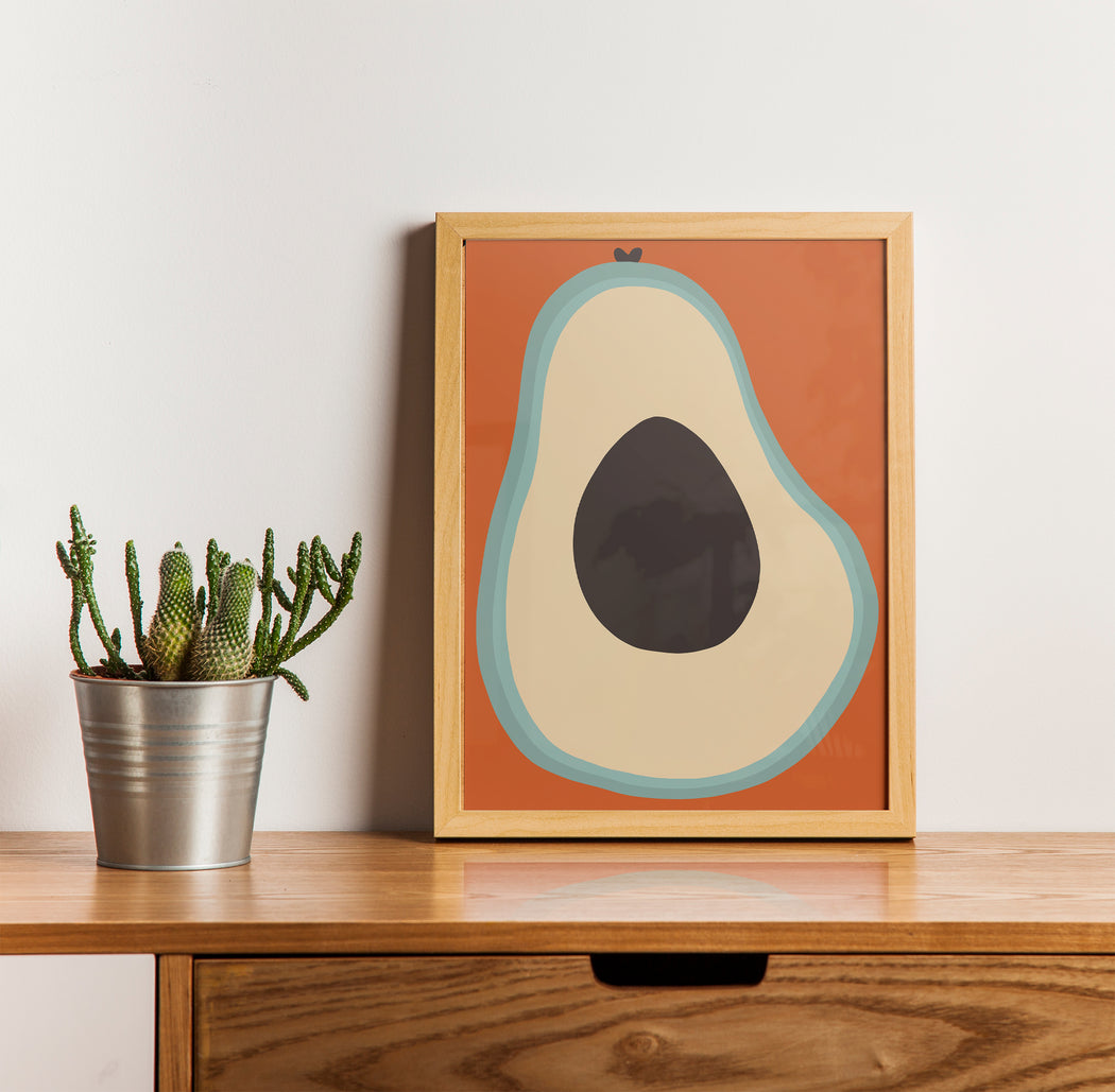 Retro Avocado Print
