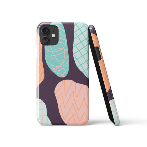 Purple Drawing iPhone Case