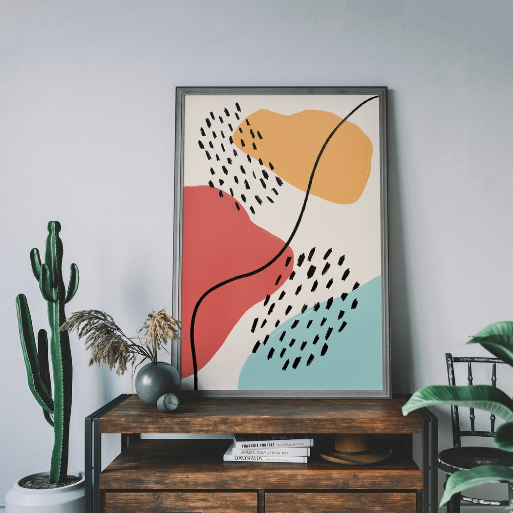 Eclectic Abstract Print - Shop posters, Art prints, Laptop Sleeves, Phone case and more Online!