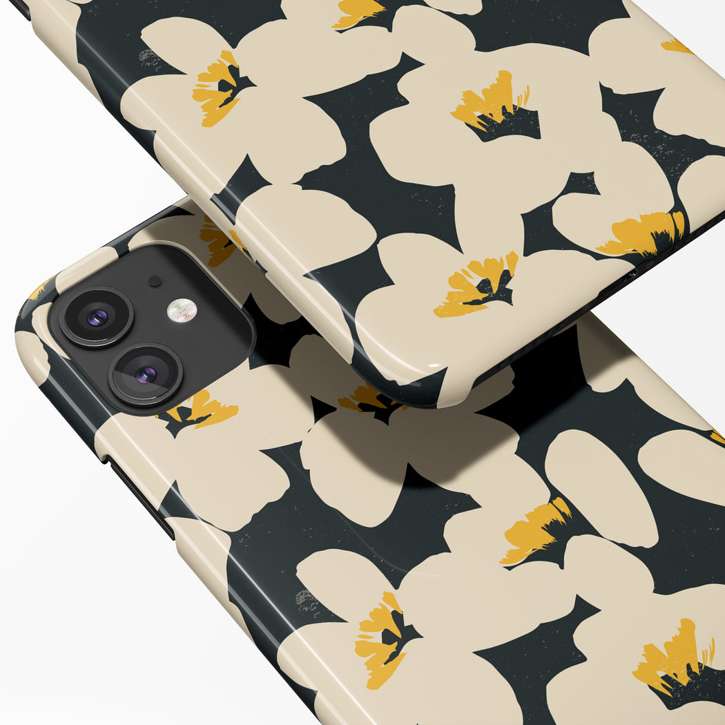 iPhone Case with Vintage Flowers Print