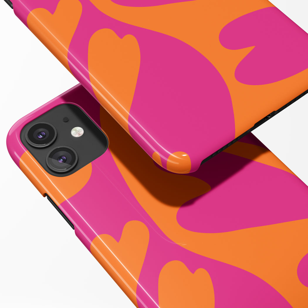 Pink and Orange iPhone Case