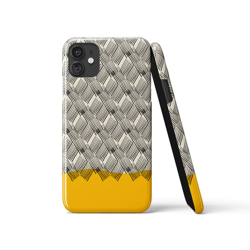 Yellow Mid Century iPhone Case