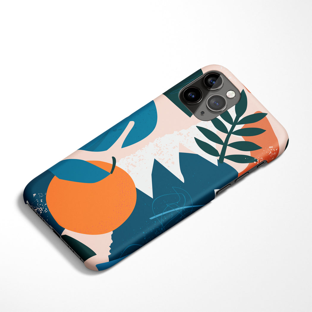 Orange Cutout iPhone Case