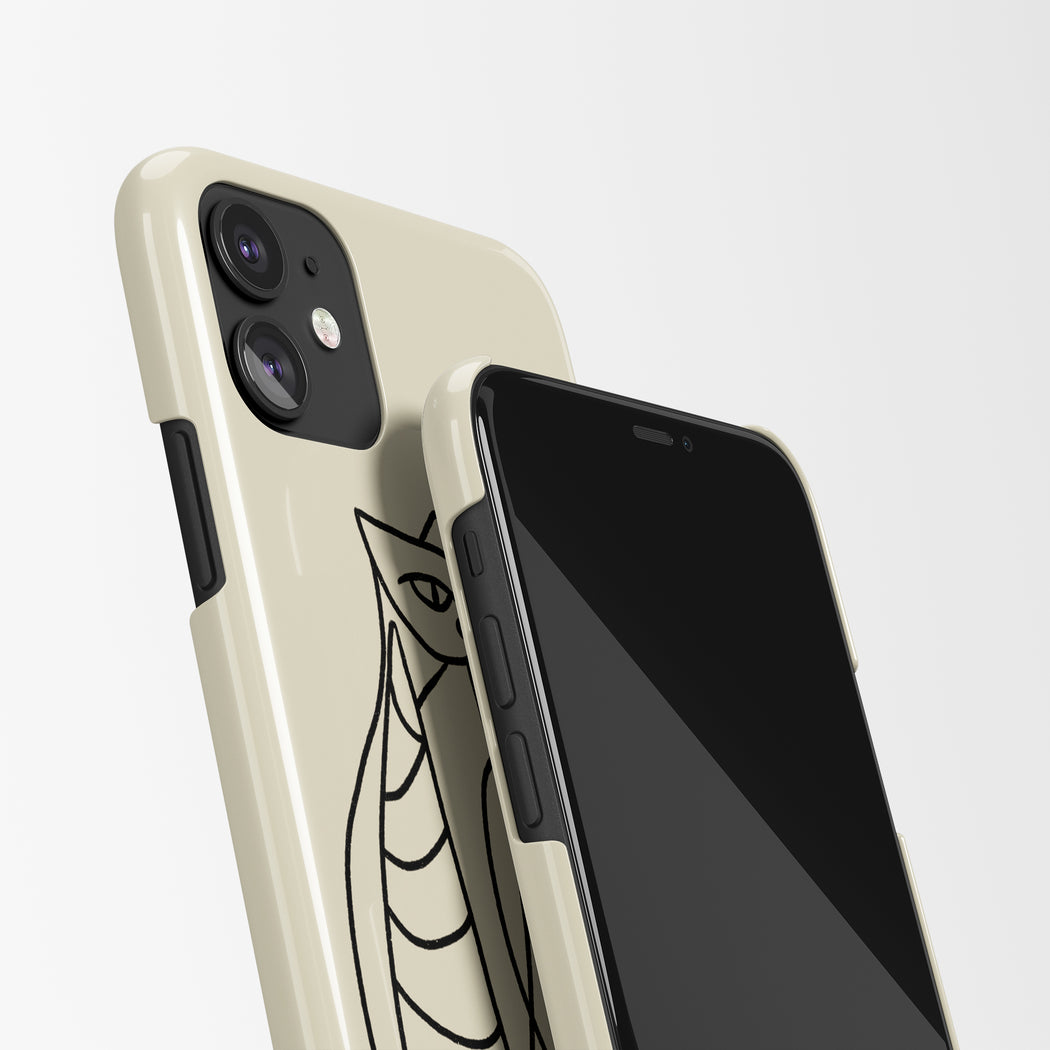 Line Art Cats iPhone Case