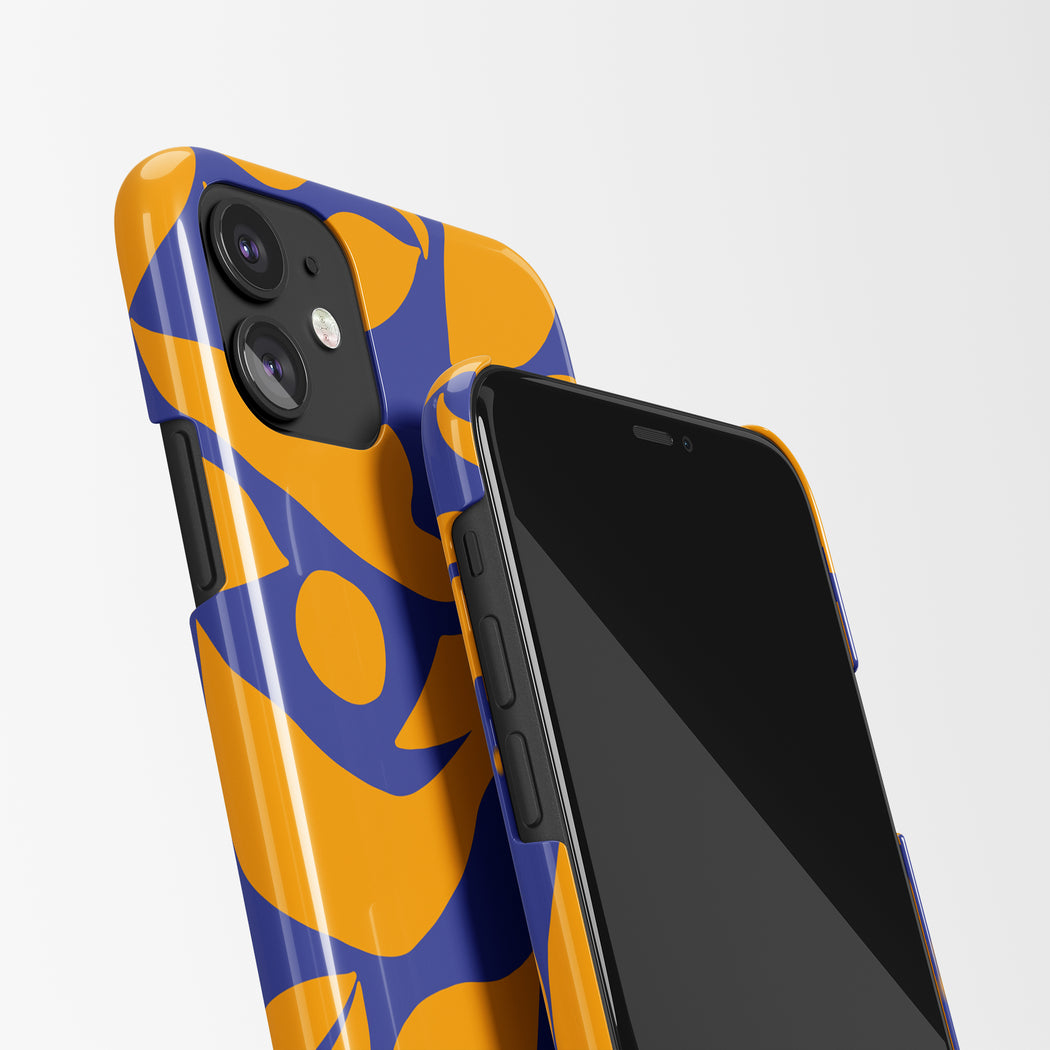 Blue and Orange iPhone Case