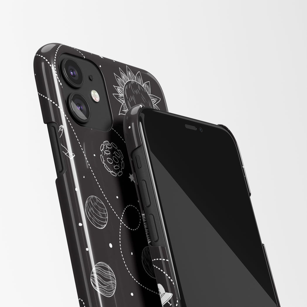 iPhone Case with Space Drawing