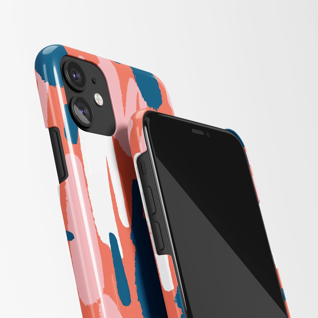 iPhone Case with Artistic Pattern