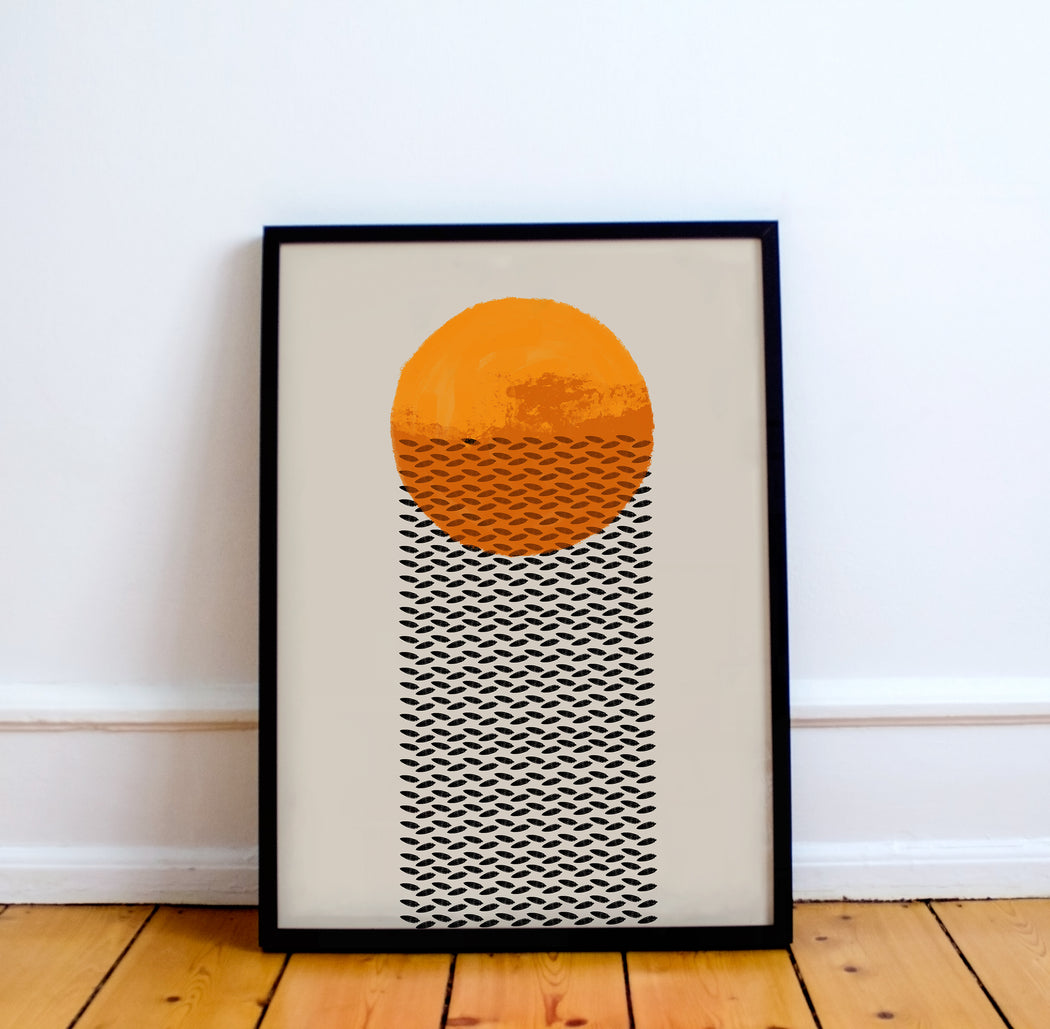 Mid Century Sun Print - Shop posters, Art prints, Laptop Sleeves, Phone case and more Online!