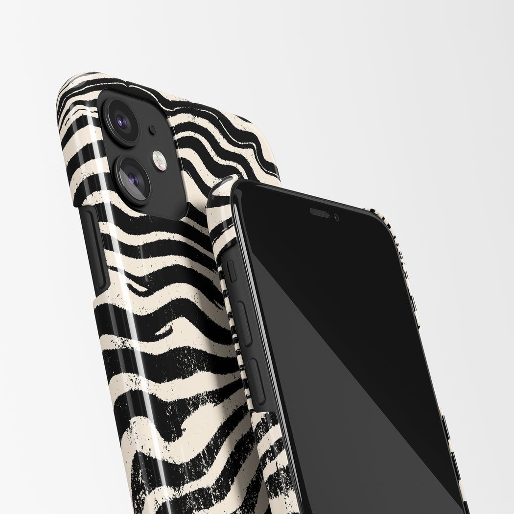 iPhone Case with Zebra Print