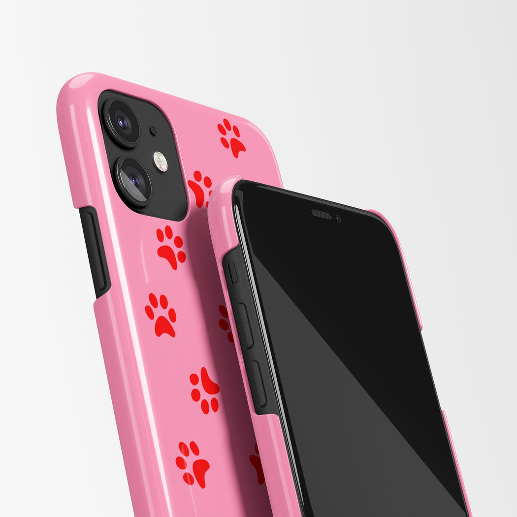 Pink Paws iPhone Case