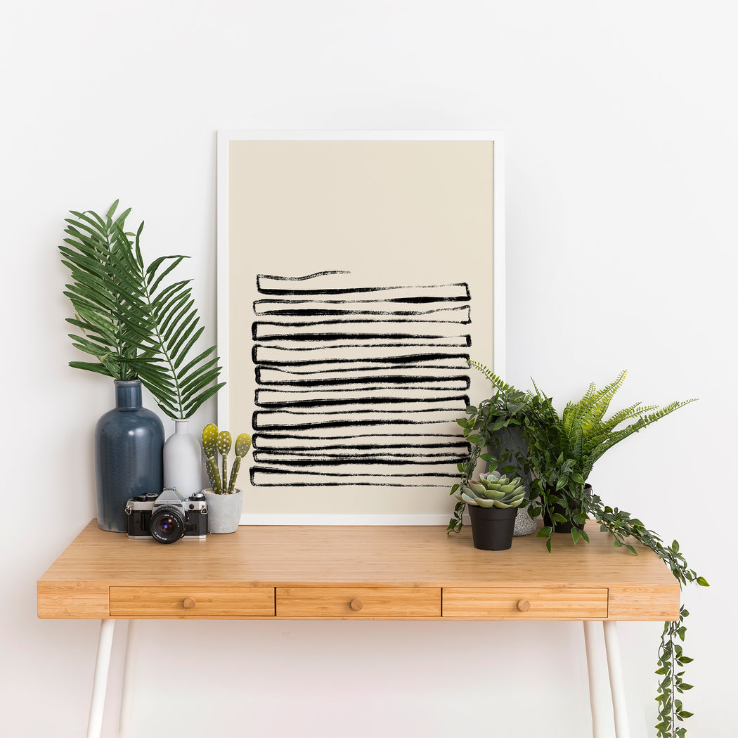 Rustic Lines Poster