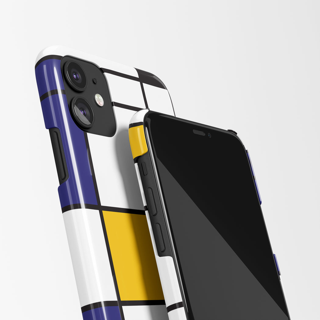 Mondrian Yellow-Red-Blue iPhone Case
