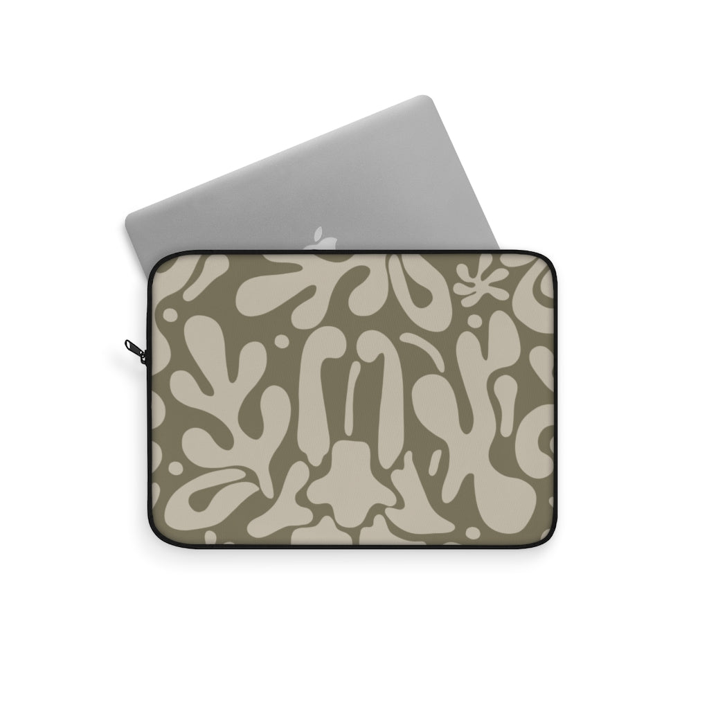 ABSTRACT FLORAL V11 LAPTOP SLEEVE