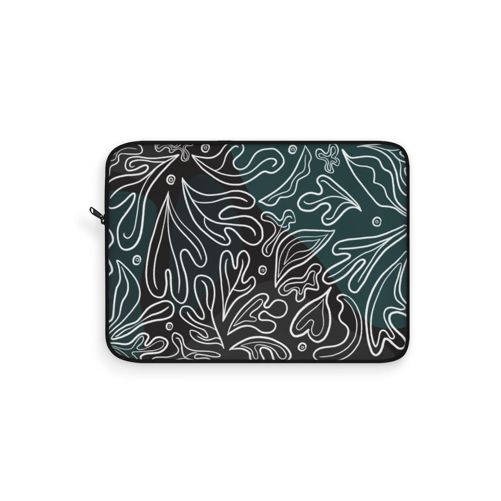 Floral Drawing Laptop Sleeve 2