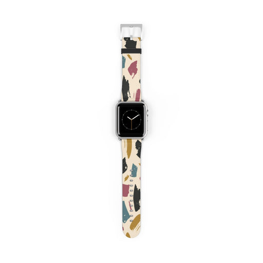 Watch Band with Abstract Art