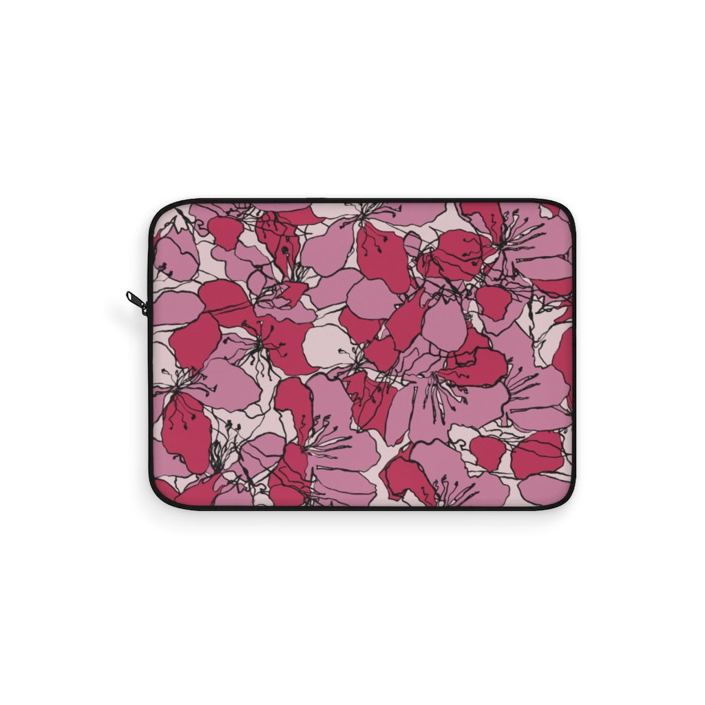 PINK BOTANICAL LAPTOP SLEEVE
