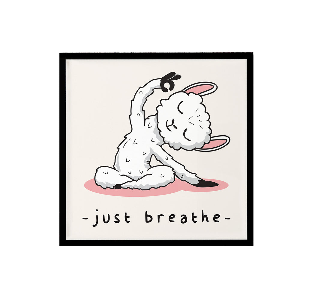 Just Breathe Alpaca Print