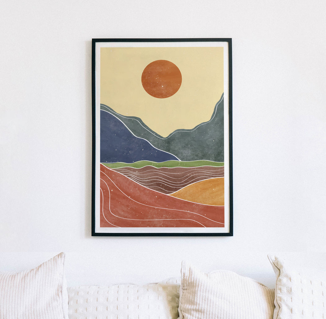 Japanese Landscape Drawing Print