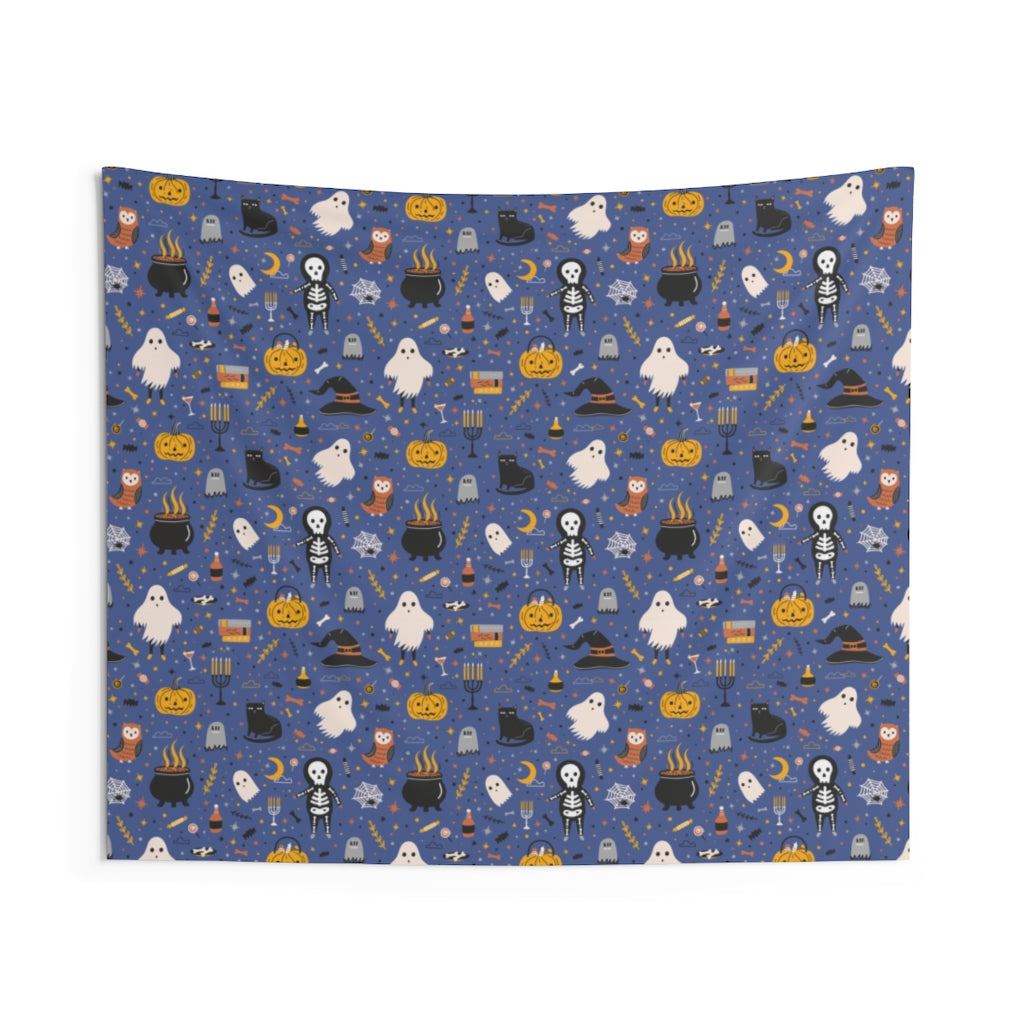 Cute Halloween Wall Tapestry