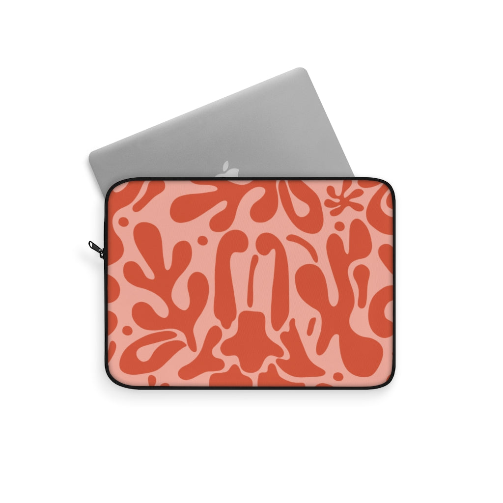 ABSTRACT FLORAL V9 LAPTOP SLEEVE