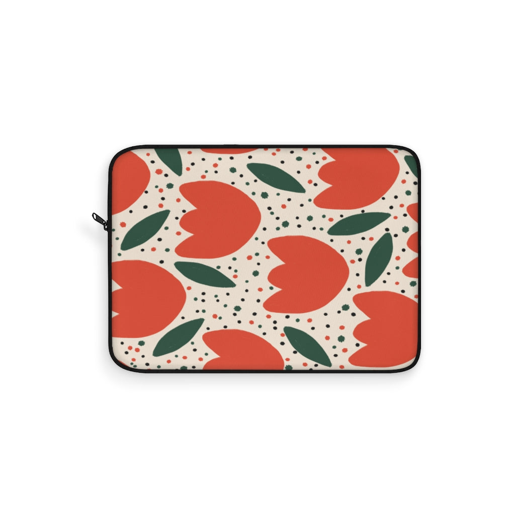 TULIPS PATTERN LAPTOP SLEEVE