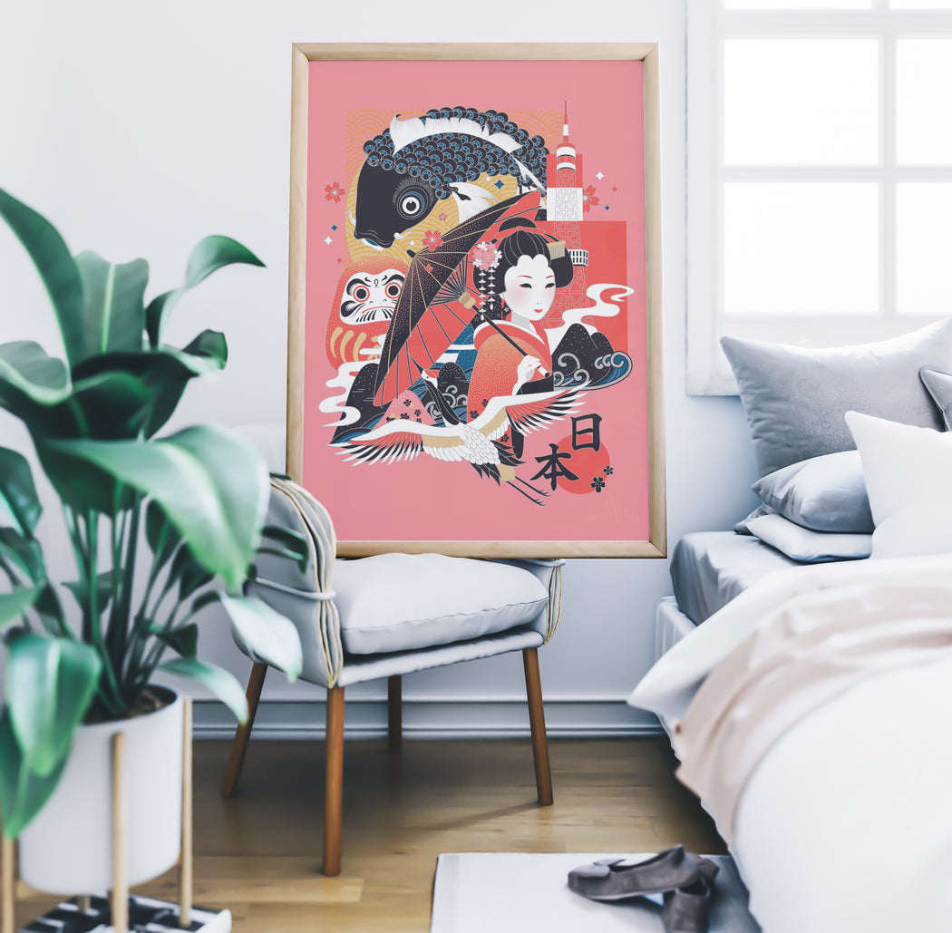 Japanese Illustration Poster