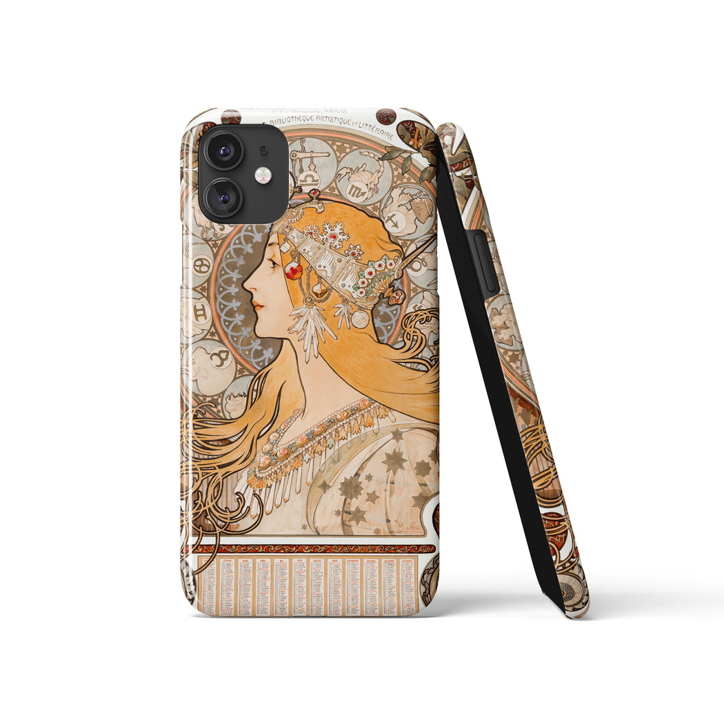 Alphonse Mucha iPhone Case - Art Nouveau Style