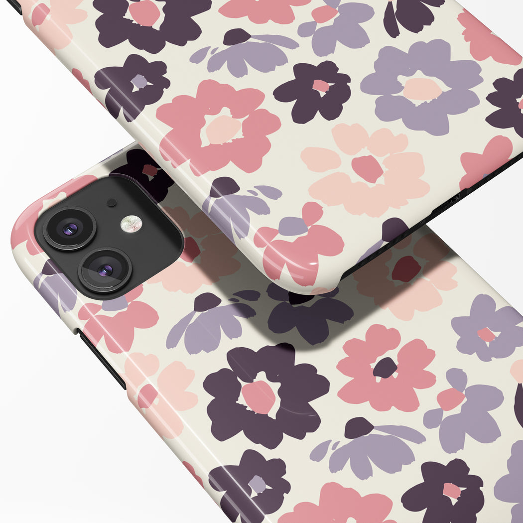 iPhone 12 Case with retro floral painting print