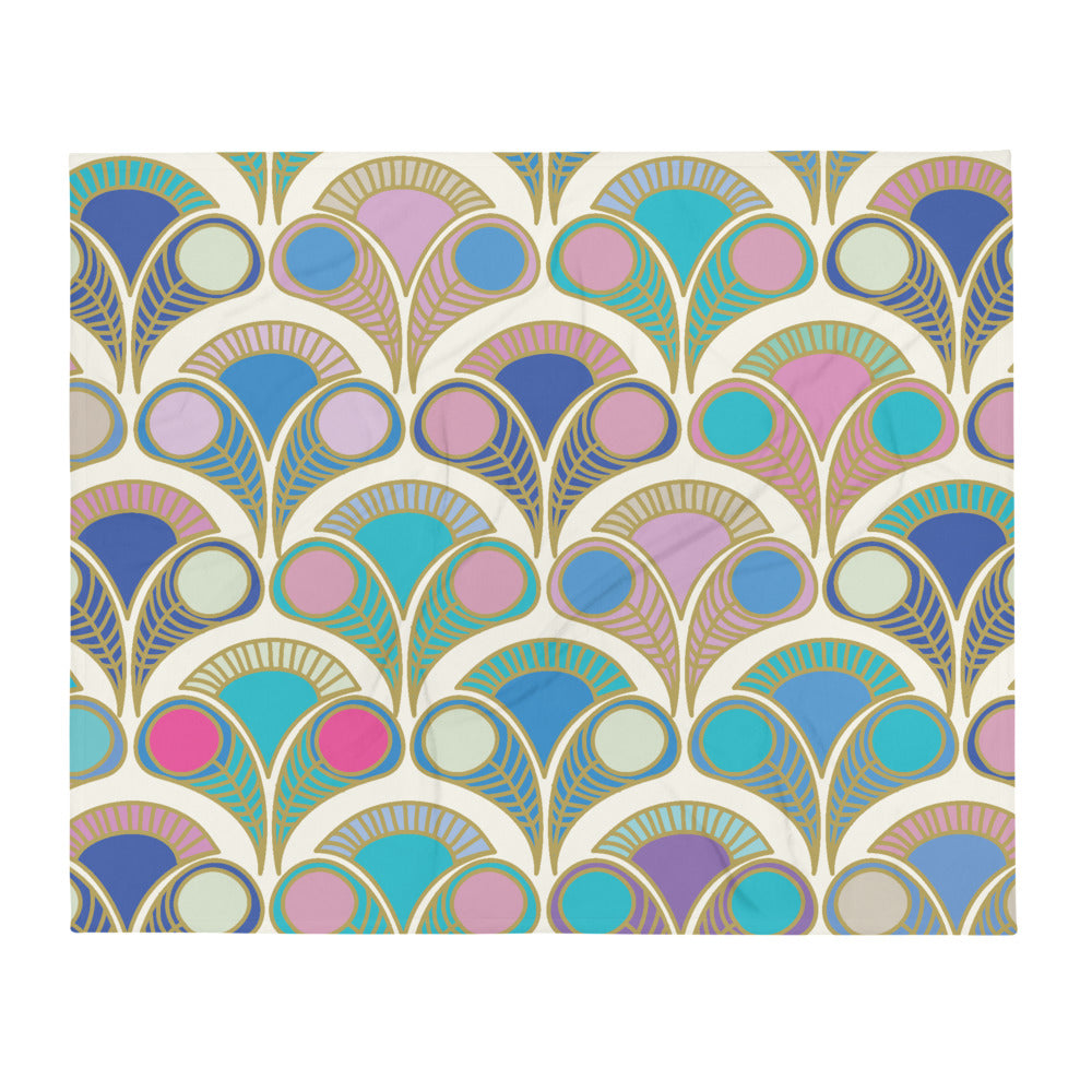 Art Deco Throw Blanket