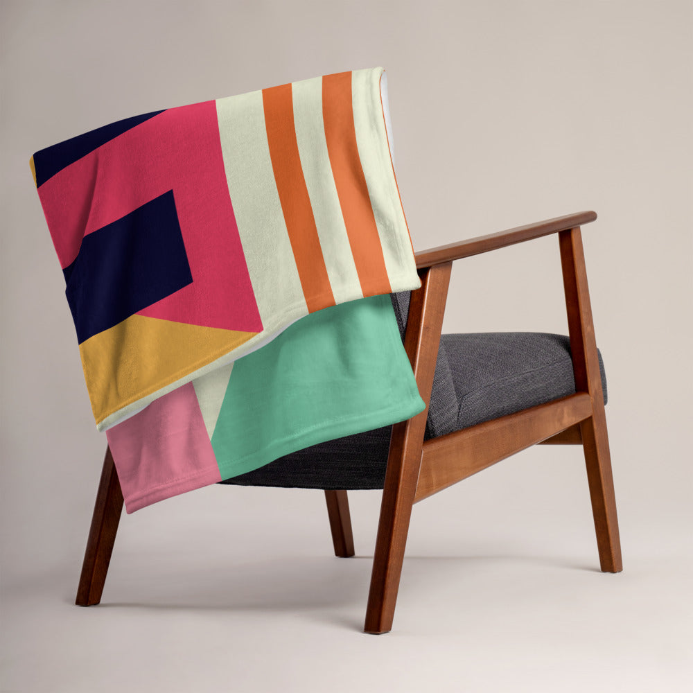 Bauhaus Art Throw Blanket