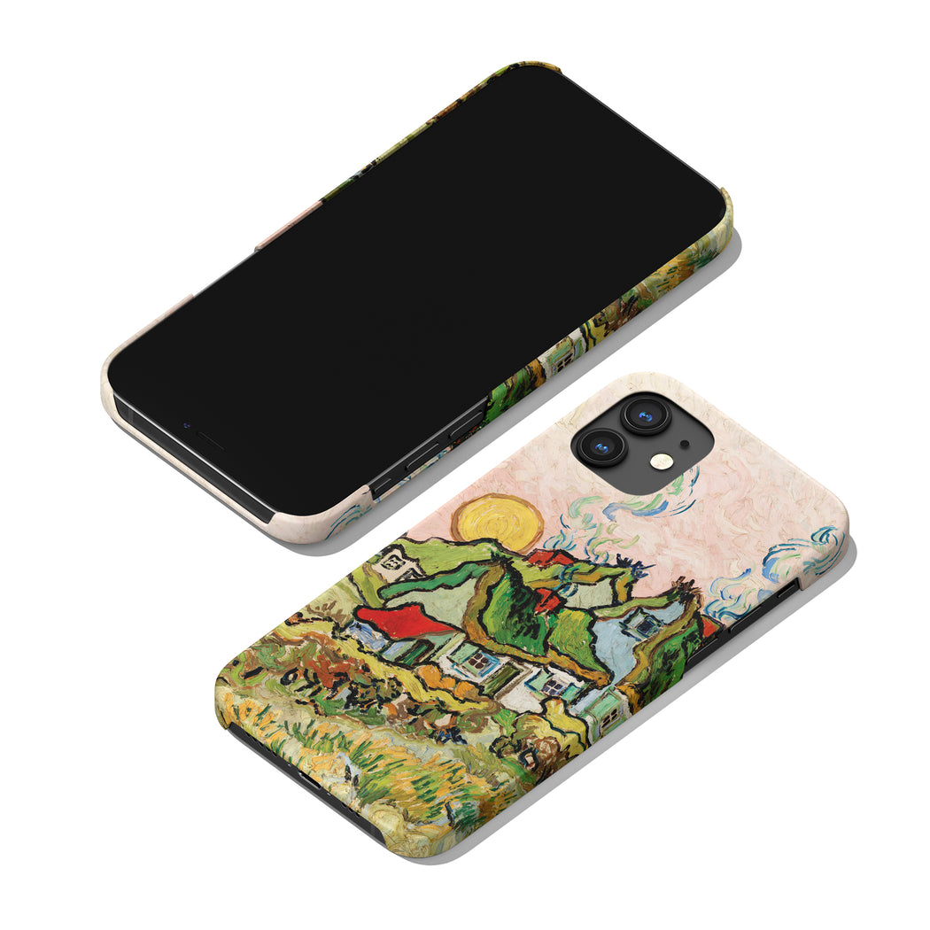 Houses and Figure by Vincent Van Gogh - iPhone Case
