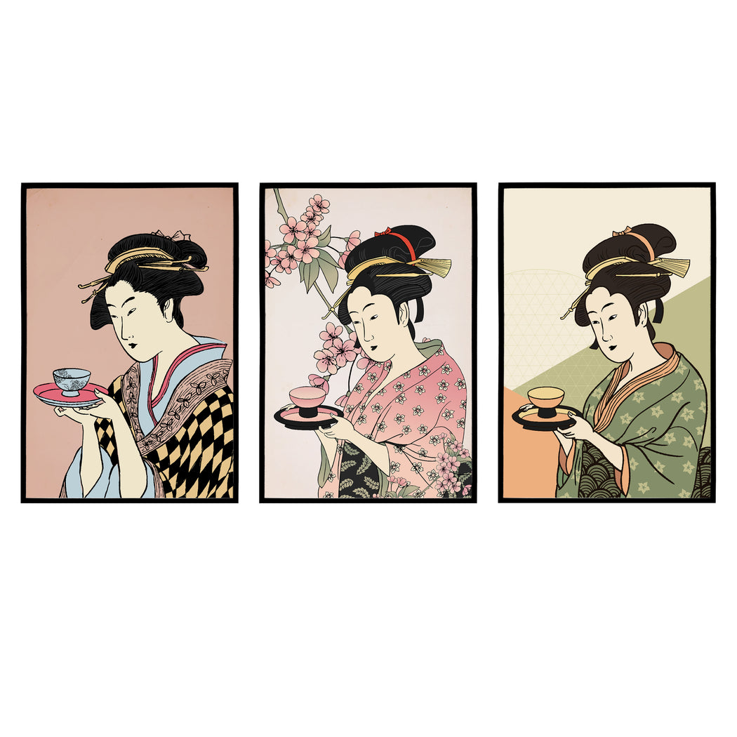 Set of 3 Japanese Art Prints
