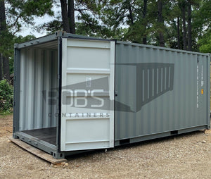 New vs used containers for building offices
