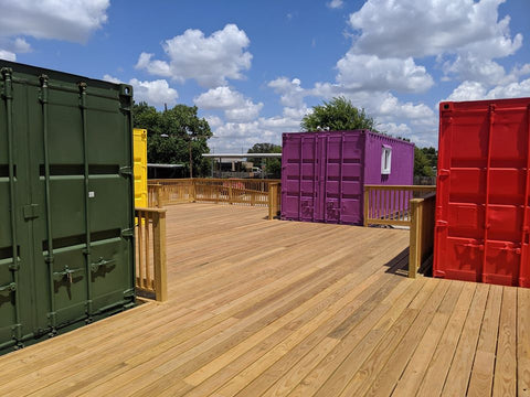 City of Austin container project, container building permit consultation