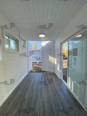 shiplap interior finish shipping container