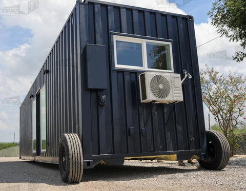 dolly wheels on shipping container