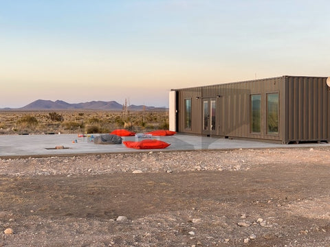 concrete slab for shipping container home