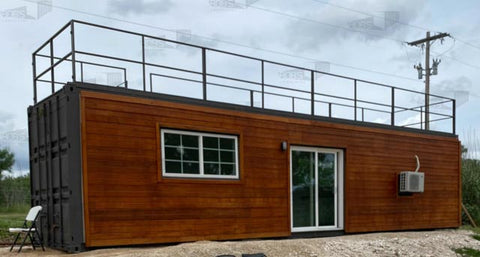 gravel foundation for shipping container home