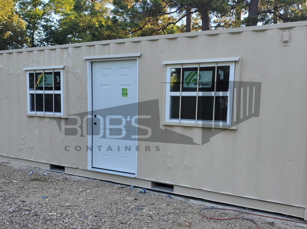 20 foot tan shipping container office