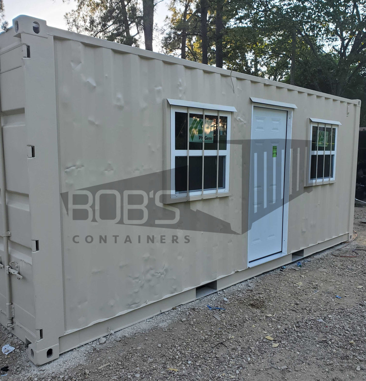 "DIY Kit - 20 ft Shipping Container Office - ""The Aransas"" Model"