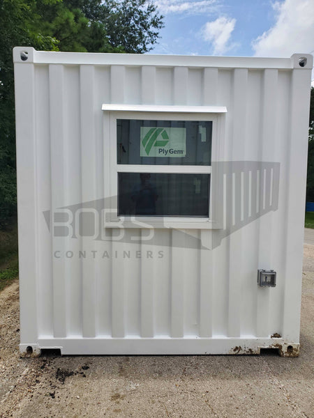 20' container office with restroom exterior