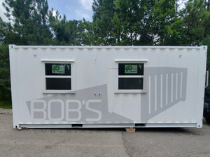 20' container office with restroom
