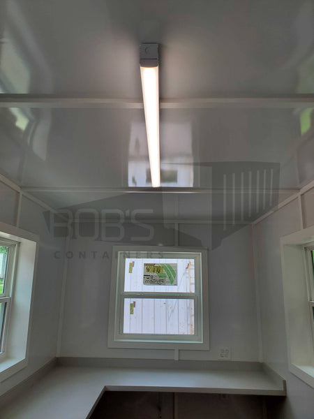 20' container office with restroom interior