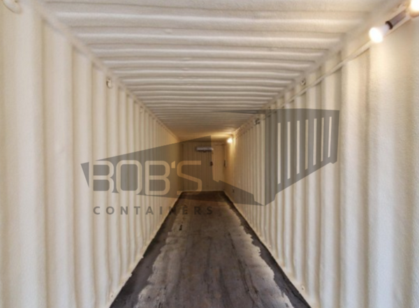 40 foot cool box walk-in cool shipping container interior