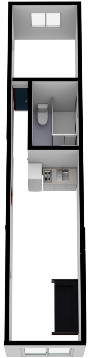 "40 ft Container Home - ""The Birch"" Model"