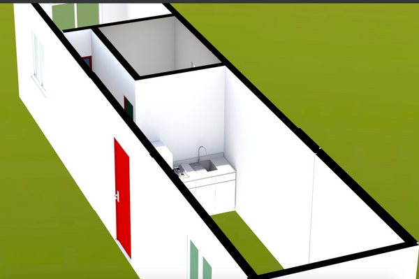 "40' Container Home | ""The Birch"" Model"