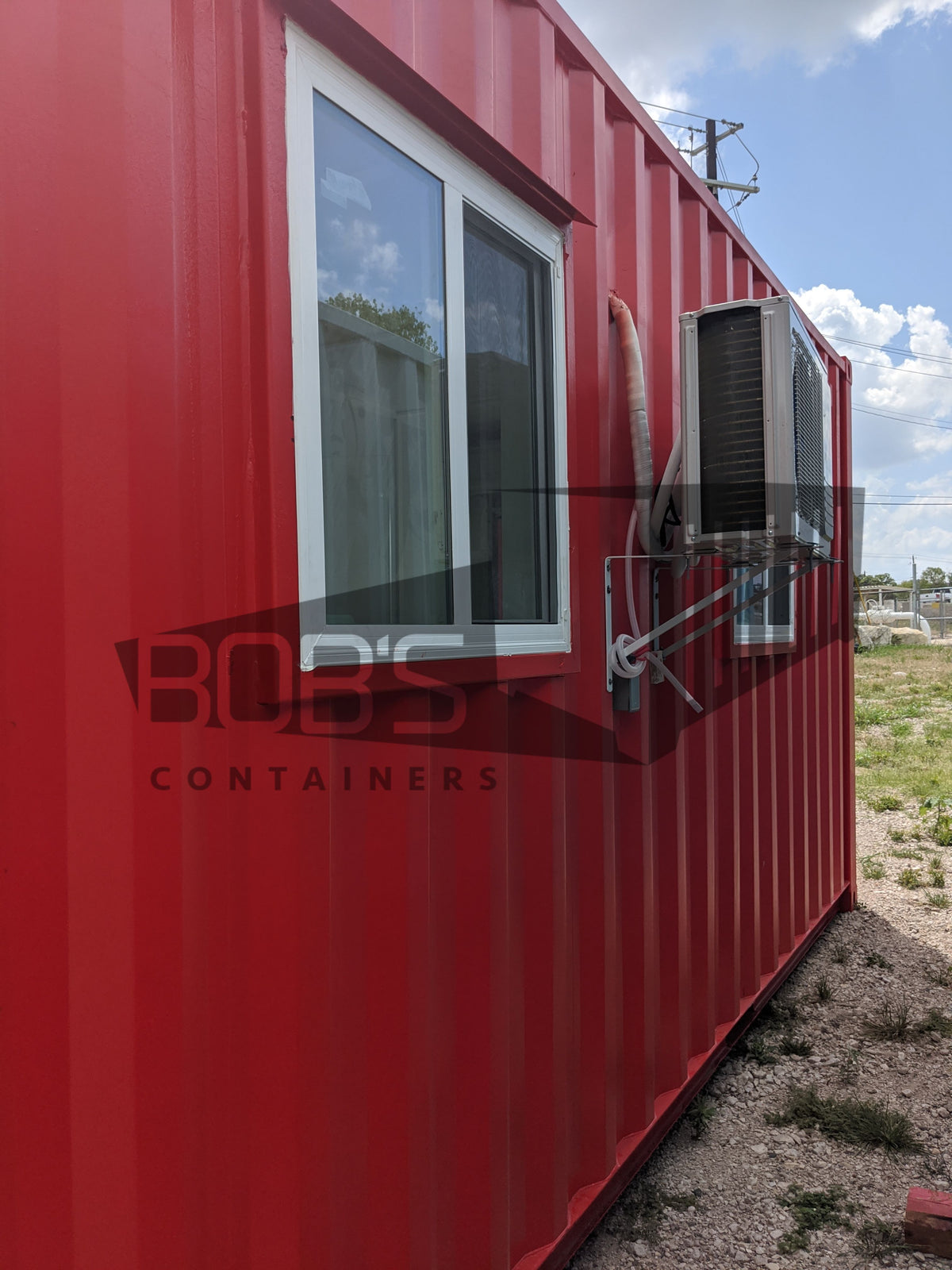 20' Container Office Model E with roll up door