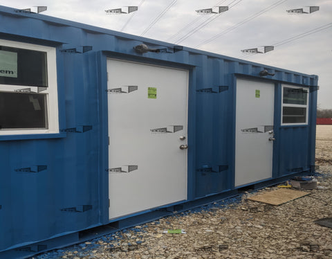 20 ft Split Container Office - Two 10 ft Offices